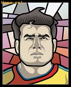 Caricaturi fotbalisti Euro 2008 - Adrian Mutu - Euro 2008